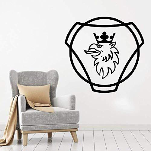 57X60Cm, Wand Tattoo, Wandaufkleber, Art Decal Dekor Poster Scania Diy Curving Abnehmbare Vinyl Home Living Decke Office Fenster Schlafzimmer Dekoration Wandbild Aufkleber