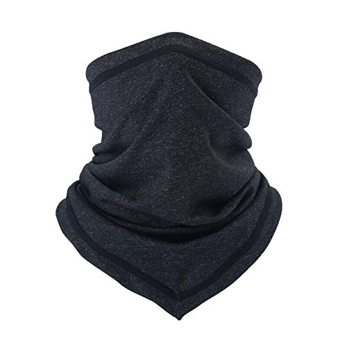 Neck Gaiter Mask Bandana, Face Mask Breathable Face Cover Washable for Fishing Hiking Camping Outdoors Sports Black