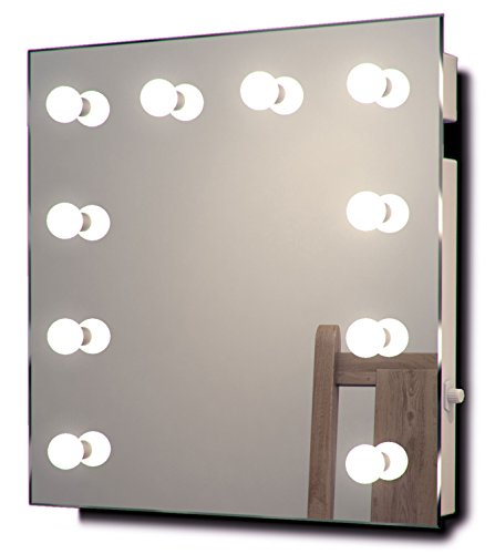 diamond x collection led hollywood make up theatre dressing room mirror h 600 x w 600mm