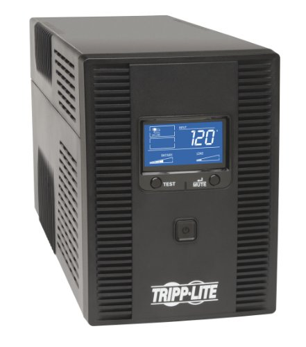 Tripp Lite OMNI1500LCDT 1500VA UPS Battery Back Up AVR LCD Display 10 Outlets 120V 810W Tel & Coax Protection USB, 3 Year Warranty & $250,000 Insurance, Black
