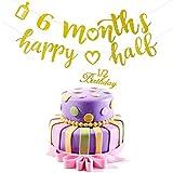 2 Pieces 6 Months Banner Decoration Happy Half Garland...