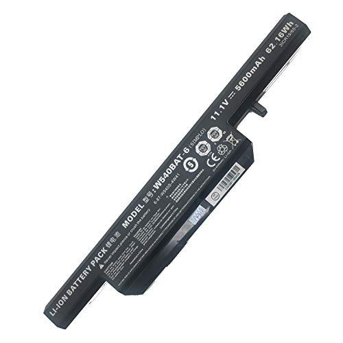 HUI-MATOOG Laptop-Batterie W540BAT-6 6-87-W540S-4271 6-87-W540S-4U43A 31CR18 / 65-2 f¨¹r CLEVO W550SU W540EU W550 Terra 1529h Aquado M1519 11.1V 5600mAh