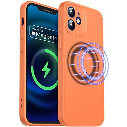 ESR Cloud Weiche Hülle mit MagSafe Kompatibel mit iPhone 12 Mini 2020 5,4 Zoll Silikon Hülle mit Pro Kameraschutz, Kumquat