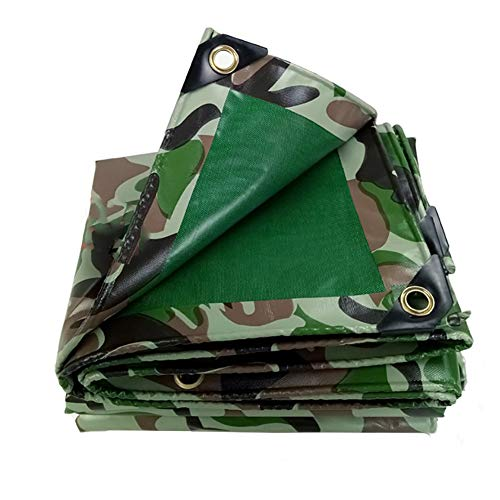 LIUPENGWEI Zeildoek En Regendicht Sunscreen Waterproof Zware Tent Camping, Hangmat/Zwembad/Tuin/Auto/Motor, Overdekt Zeildoek Van 450g / M2 - Camouflage zeildoekzak (Size : 4mx4m)