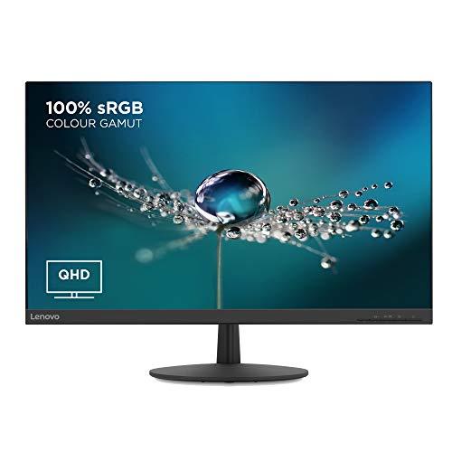 Lenovo L27q-30 27 Inch QHD Monitor (IPS Panel, 75 Hz, 4 ms, HMDI, DP) Tilt Screen, Black