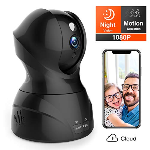 Security Camera 1080P WiFi Dog Pet Camera - KAMTRON Wireless Indoor Pan/Tilt/Zoom Home Camera Baby Monitor IP Camera with Motion Detection Two-Way...