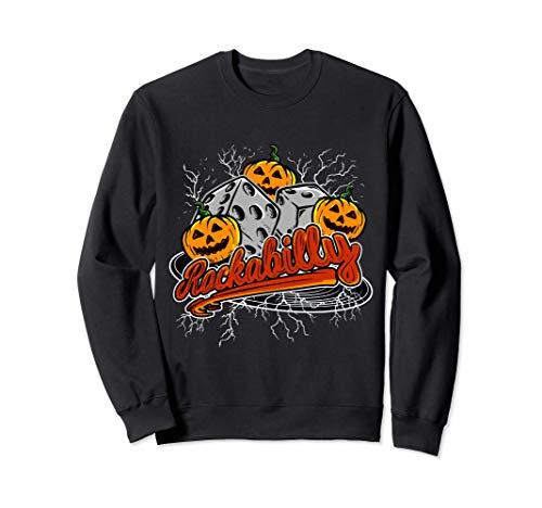 Rockabilly 1950s Música Rock Calabaza Disfraz de Halloween Sudadera