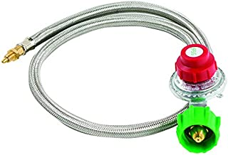 Bayou Classic M5HPR, 0-5 PSI Adjustable Regulator with Stainless Braided Hose