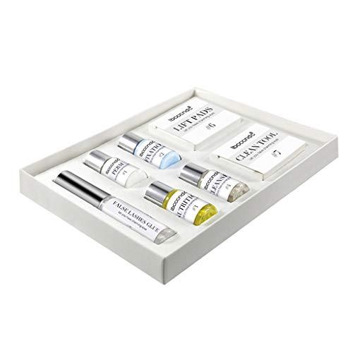 HomeDecTime 7 Pcs Professionnel Cils Perming Kit Cils Lift Pad Pad Colle Fixation Lotion Ensemble