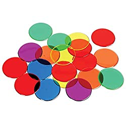 Transparent Color Counting Chips in Assorted Colors