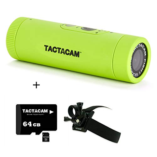 TACTACAM Fish-i Wide Lens Fishing Action Camera - Includes Head Mount, Universal Mount Adapter, and 64GB Micro SD Card