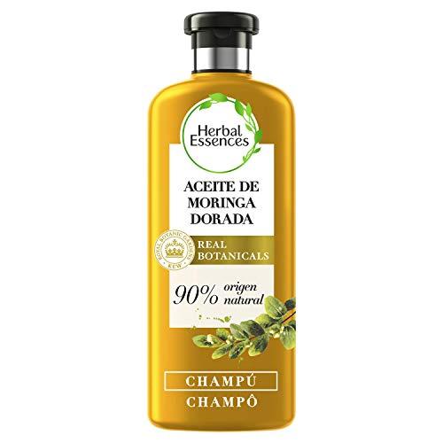 Herbal Essences bio:renew Champú para un pelo suave, Aceite de Moringa Dorada 400ml, con ph neutro e ingredientes naturales