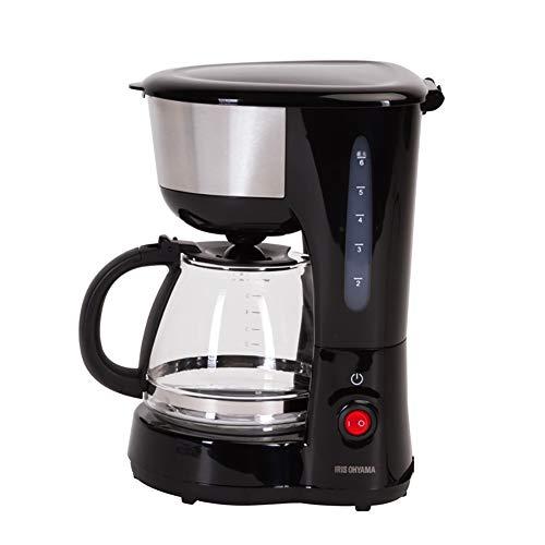 Macchina Per Caffè, Filtro Per Caffè Espresso Elettrico A Goccia Con Brocca In Vetro 0, 75L (6 Tazze), Funzione Antigoccia, Isolamento Automatico, Controllo Preciso Della Temperatura, 600W - Nero