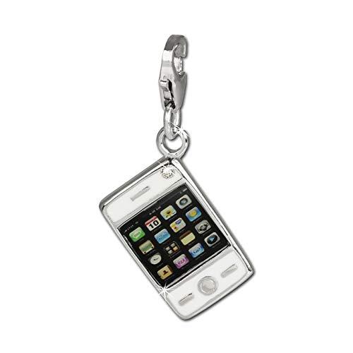 Balia Charm Anhänger 925 Silber Smartphone Handy Zirkonia s/w SilberDream D4FC659 Charmsschmuckanhänger präsentiert von IMPPAC