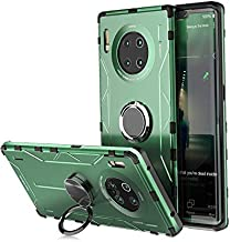 Jonwelsy Case for Huawei Mate 30 Pro, Shockproof Soft Silicone + Aluminum Alloy Armor Cover with 360 Degree Rotation Ring ...