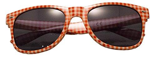 Panelize ® TOP Marken Brille Andreas rot weiß kariert Accessoire UV 400 Sonnenschutz Qualität …