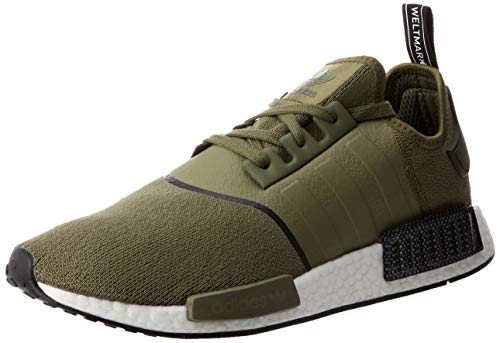 adidas Herren NMD_r1 Gymnastikschuhe, Grün (Raw Khaki/Raw Khaki/Core Black Raw Khaki/Raw Khaki/Core Black), 42 2/3 EU