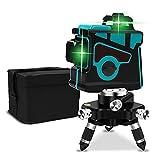 レーザー墨出し器 水平器 360°照射レーザーレベル 緑色ミニ3D 自動補正高輝度 省エネ 連続使用 ミニ型 持ち運び便利 操作簡単 (Color : 青い)