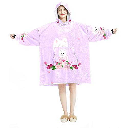 Hood Loungewear - Chándal cómodo para mujer, diseño de cachorro blanco cálido