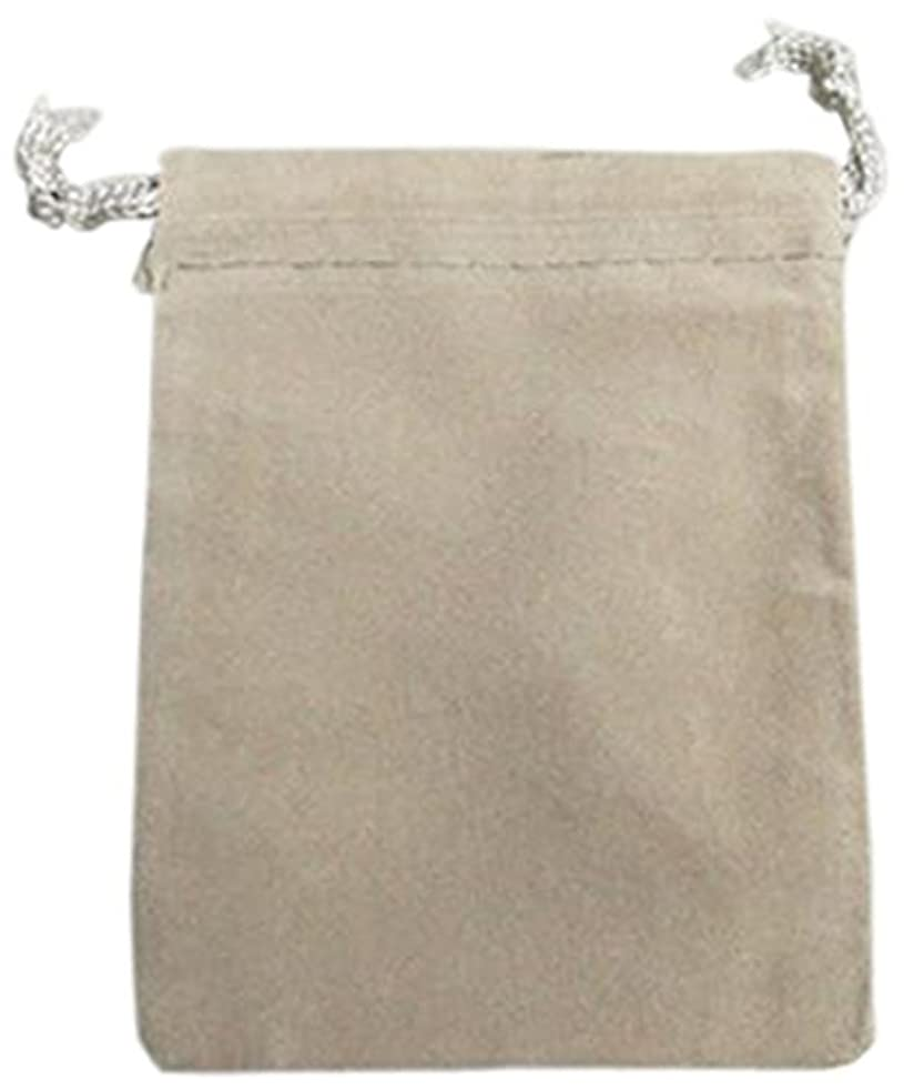 Firefly Imports Homeford Velvet Favor Bags Pouches with Drawstrings, 3 by 4-Inch, Silver, 25-Pack