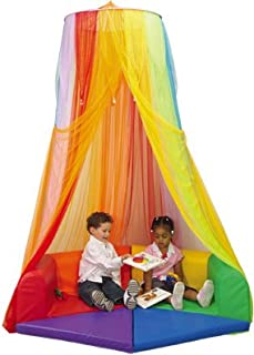 Constructive Playthings Rainbow Retreat Canopy for Kids,...