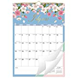 2021-2022 Calendar - 18 Monthly Wall Calendar with Thick Paper, 12' x 17', Jan. 2021 - June. 2022 Twin-Wire Binding + Hanging Hook + Large Blocks with Julian Dates - Floral