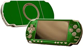 Groovy Green Vinyl Decal Faceplate Mod Skin Kit for Sony PlayStation Portable 2000 (PSP-Slim) Console by System Skins