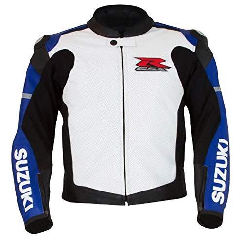 Suzuki Motorradjacke aus Rindsleder, Blau Gr. XL, blau