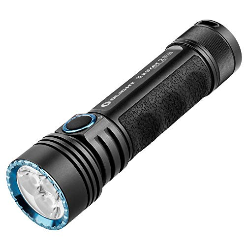 Olight Seeker 2 Pro LED Torch Max 3200 Lumens Rechargeable Flashlight with Power and Brightness Indicator Switch5000mAh Customized 21700 BatteryL Dock ChargerUSB Magnetic Charging CableHolster