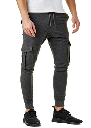 Herren Jogginghose Cargo Pants Jogger Schwarz Khaki Grau BR305, Größe:M, Farbe:Cargo Anthrazit