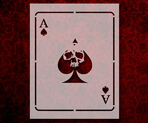 Ace of Spades playing card Death Dealer 8.5 x 11 Inches Stencil (823)