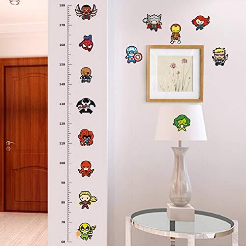 Taoyue Meten u muurstickers voor de kinderkamer stickers kunst kinderkamer decoratie groeitabel poster cartoon jongens cadeau