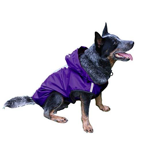 DC CLOUD Chaquetas De Lluvia para Perros Impermeable para Perros A Prueba De Viento Chaqueta De Nieve Transpirable Chaqueta para Perros Perros Grandes Impermeable Adecuado para Perros Purple,XL