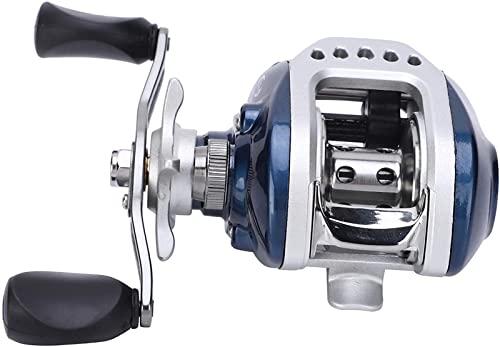 MCE Carrete de Pesca de mar, 10+ 1BB Carrete de fundición, 6.3: 1 Reel de fundición 6.3: 1 Relación de Velocidad 10+ 1BB Pesca de Freno de Fuerza magnética (Color : Left Hand Wheel)