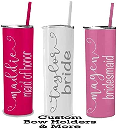 Nana Glamma Girls Weekend Bachelorette Party Bridesmaid Gift Grandma Any Color Mermaid ENGRAVED Stainless Skinny Steel Wine Insulated Tumbler Bride Tumbler ONE 20 oz Personalized Mothers Day