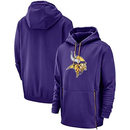 YUNMO Rugby-Pullover Minnesota Vikings Workout-Kleidung Langarm-Sportbekleidung mit Kapuze (Size : XL)