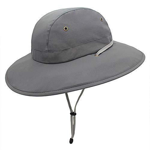 Sombrero Pescador para El Sol Unisexo UPF 50+ Anti-UV Vacaciones Viaje Playa Gorro De Pesca Pescador Verano ProteccióN Ajustable Sombrero De Al Aire Libre (Color : Dark Gray)