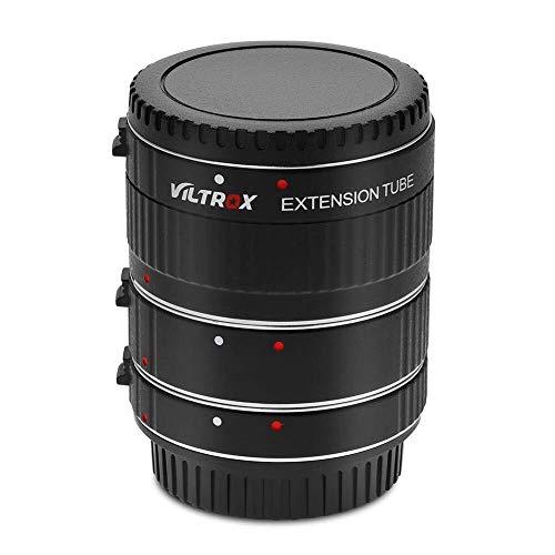 Kamera-Objektivdeckel DSLR-Kamera-Adapterring, Autofokus-Verlängerungsrohr 12 mm, 20 mm, 36 mm, Adaptersatz mit Sicherungsstift for Canon EOS DSLR-Kameras, EF EF-S-Objektive for Makroaufnahmen Praktis