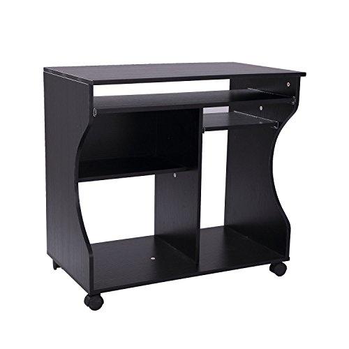 HOMCOM Computertisch Eckschreibtisch Winkelschreibtisch Schreibtisch Bürotisch PC Tisch, Verschiedene Modelle (Modell 8/Schwarz)