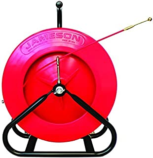 Jameson 15-316-300 Mini Duct Hunter Traceable Electrical Fish Tape Duct Rodder with 300 Feet of 3/16-inch Fiberglass Rod