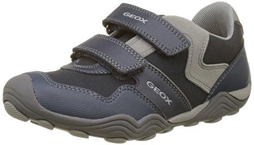 Geox Jungen JR ARNO A Sneaker, Blau (Navy/Grey), 34 EU