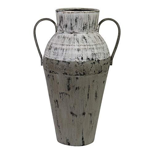 Stratton Home Décor Stratton Home Decor Two Tone Distressed Vase, White, Grey