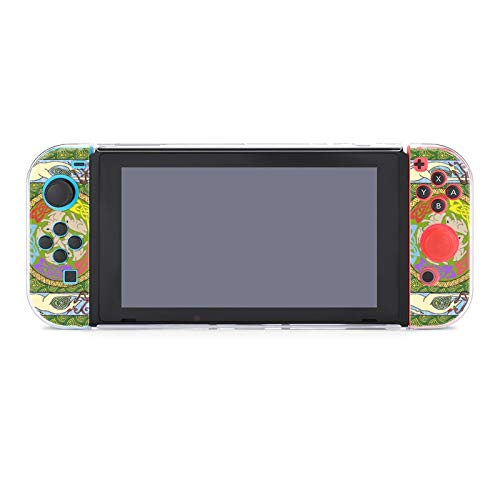 Case Compatible with Nintendo Switch Case Screen Protector,PC 5 in 1 Protective Heavy Duty Cover Case with Shock Absorption and Anti-Scratch Dog U Rabbits Celtic Quilt