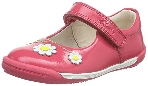 Clarks Softly Jam Fst - Zapatillas para bebés, Color Coral Patent, Talla 21