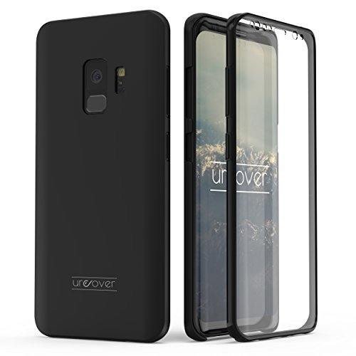 Urcover kompatible für Samsung Galaxy S9 Hülle I Original berühmt durch Galileo I Hard-Edition I QI-fähig I Rundum 360° Schutzhülle I Crystal Clear Case in Schwarz I Vorne + Hinten optimal geschützt
