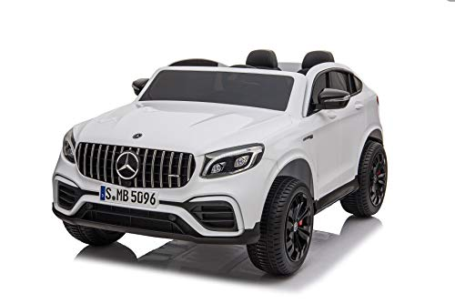 First Drive Benz GLC AMG - 2 Seater - 12V Kids Toy Car SUV Truck - 4 Motors 4WD Electric Power Ride On Car with Remote, MP3, Aux Cord, Led Headlights and Rear Lights, and Premium Wheels