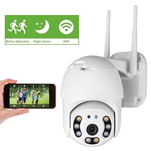 Cámara de Seguridad WiFi Exterior, Aottom 1080P PTZ Camara...