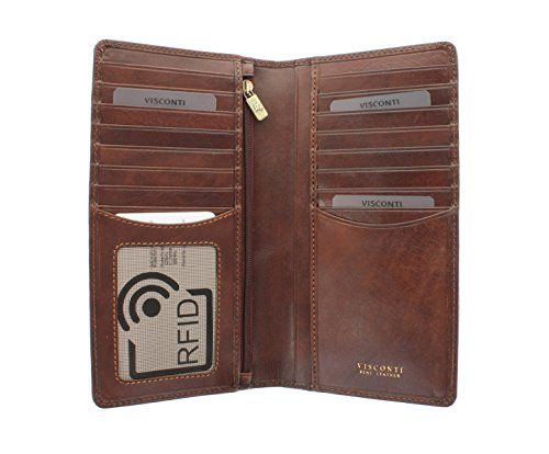 Portafoglio da Giacca in Pelle Visconti Collezione Tuscany CARRARA Protezione RFID TSC45