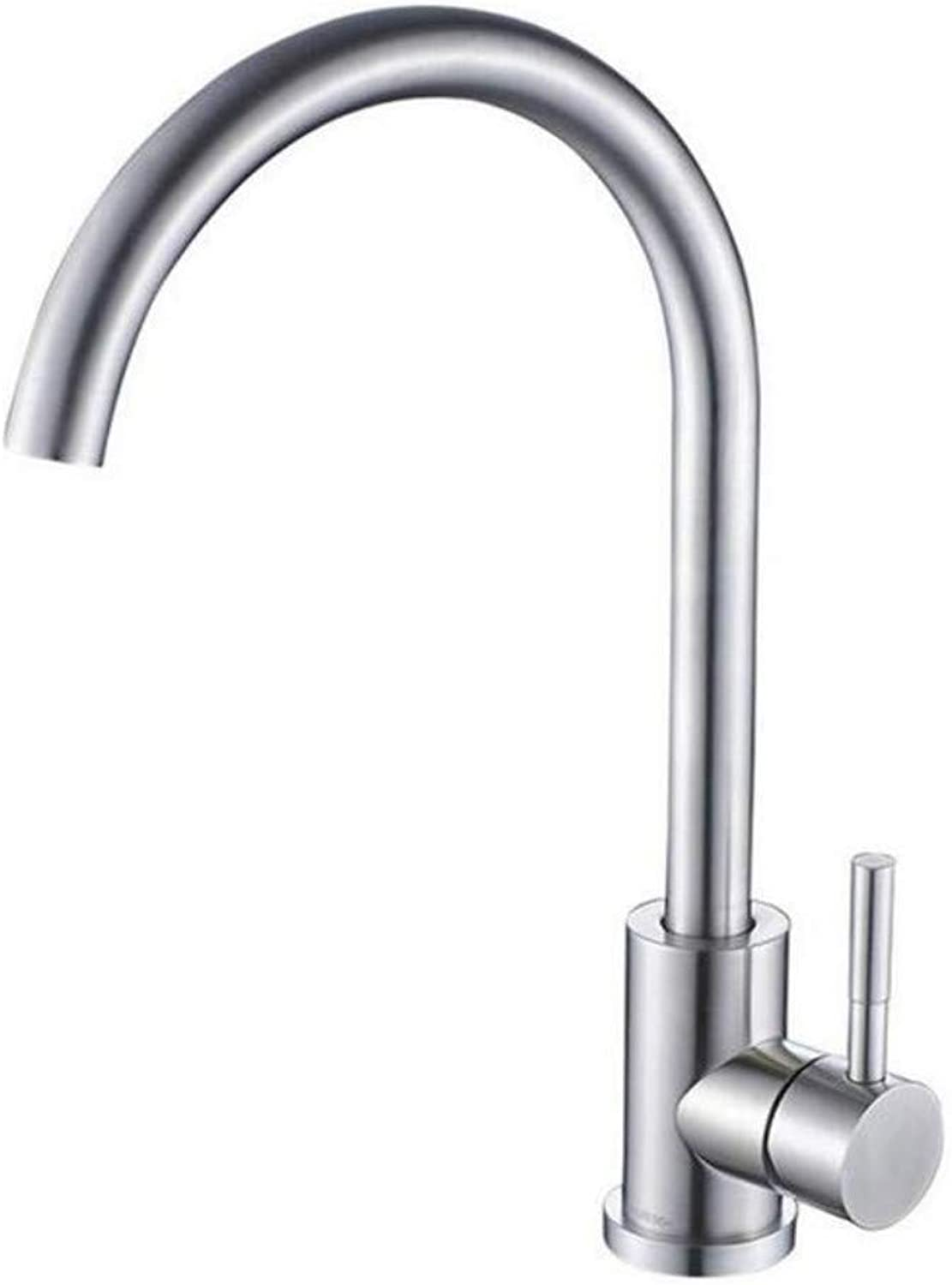 Basin Taps Swivel Spout Faucet Faucet Single Hole Brushed Nickel Swivel Kitchen Sink Hot and Cold Water Mixer Tap