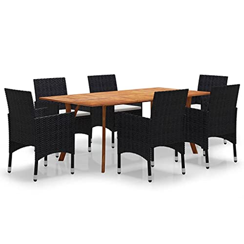 vidaXL Set di mobili da giardino, 7 pezzi